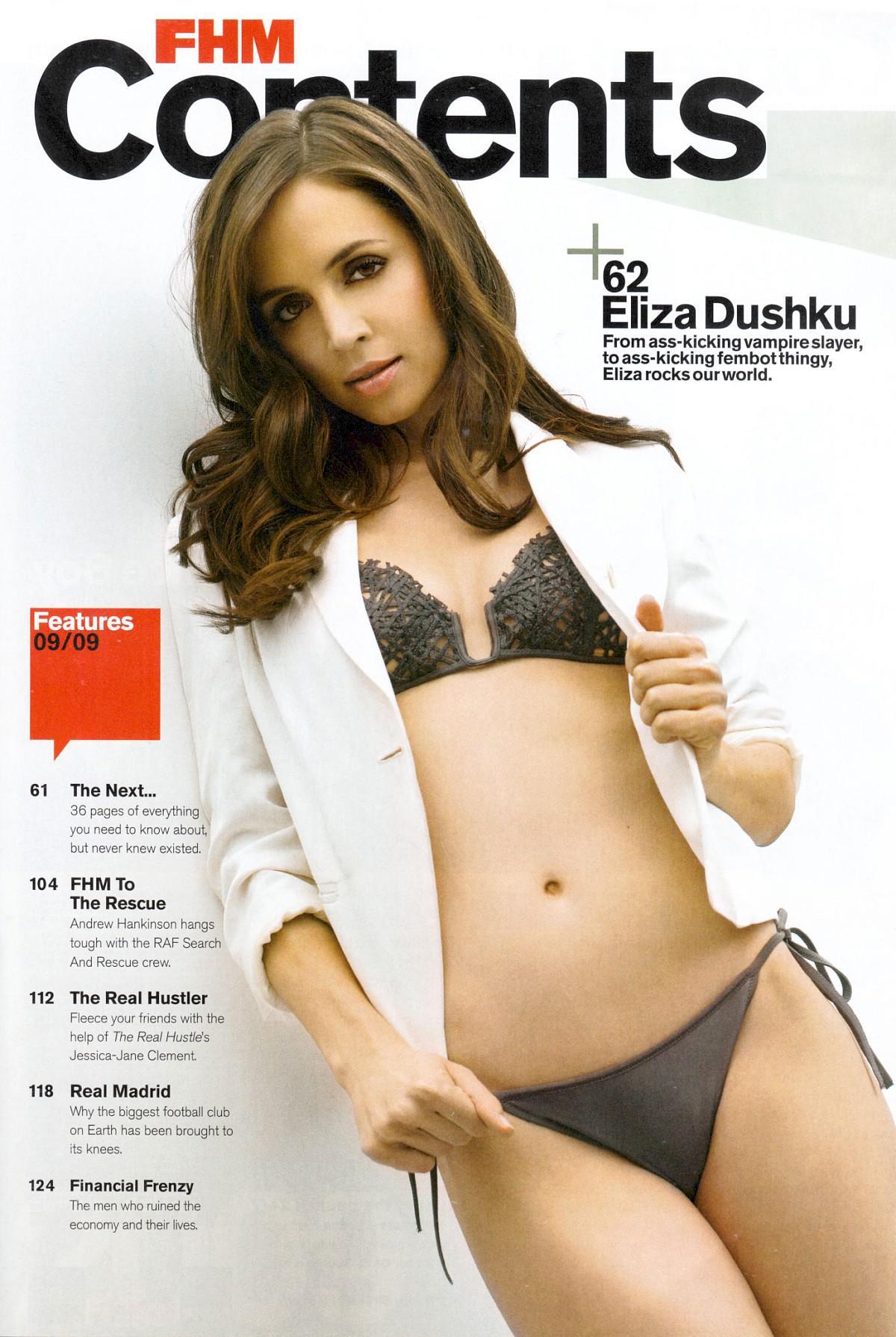 Eliza Dushku sin ropa