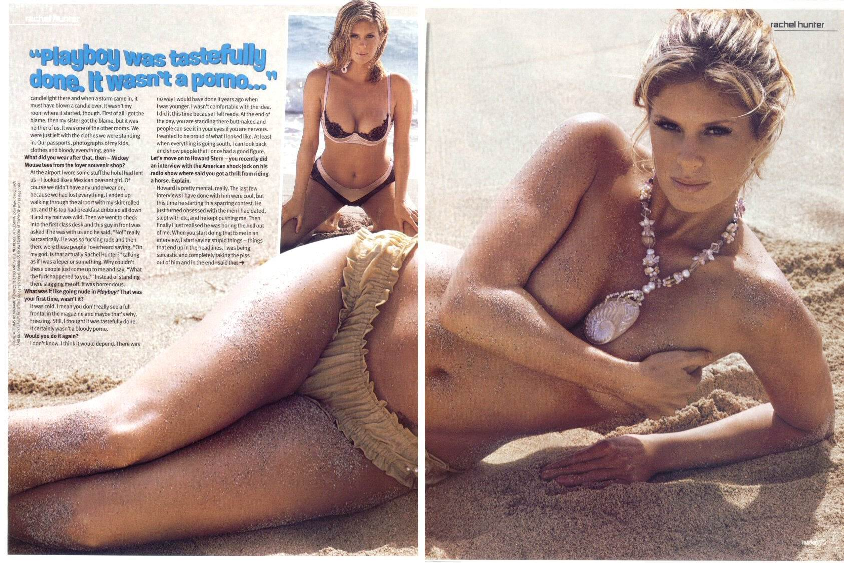 fotos de desnudos de Rachel Hunter