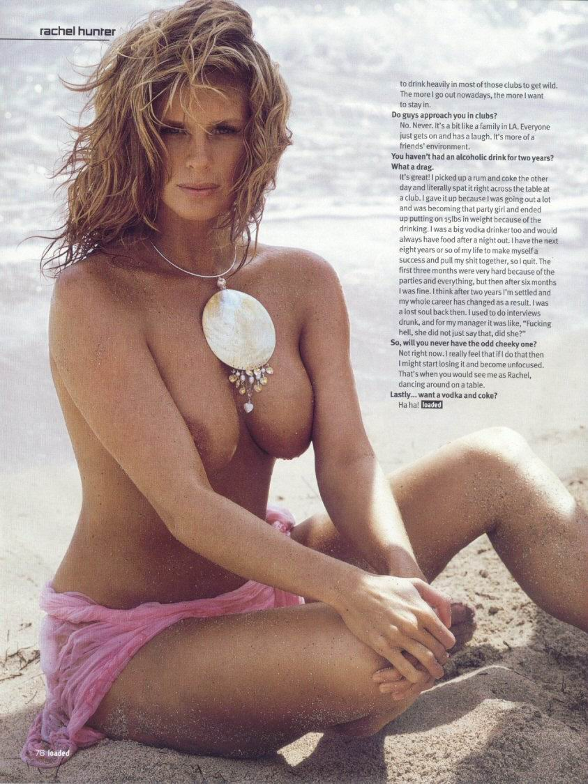 Rachel Hunter desnuda porno