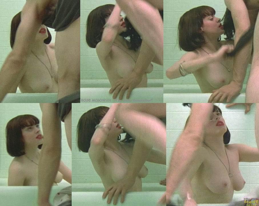 Rose McGowan desnuda follando
