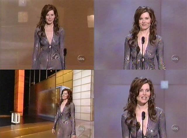 Geena Davis sin ropa interior