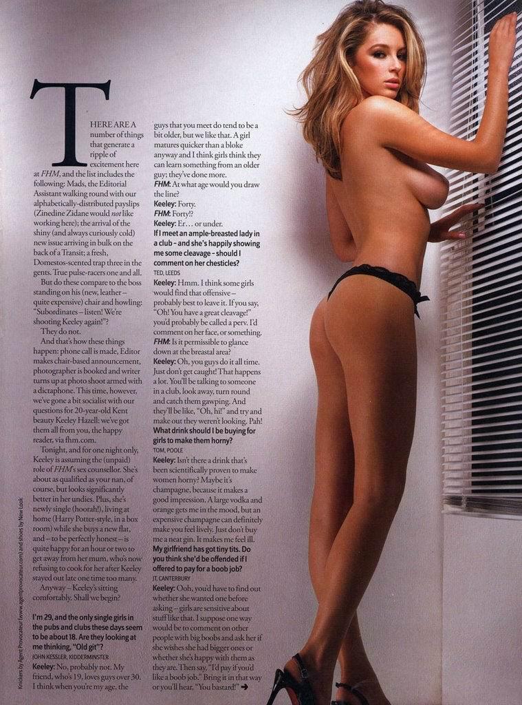 Keeley Hazell desnuda sin censura