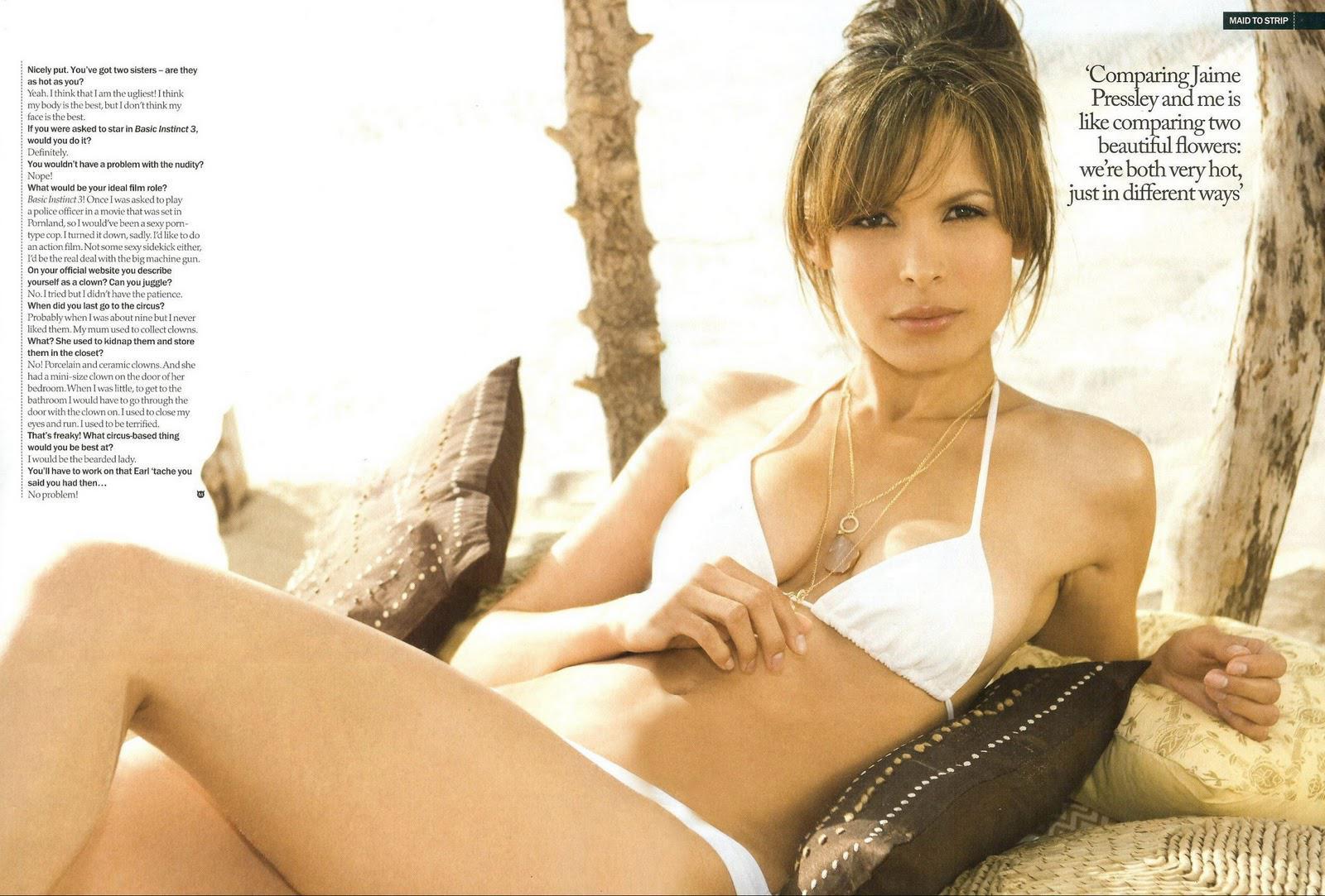 Nadine Velazquez sin ropa interior