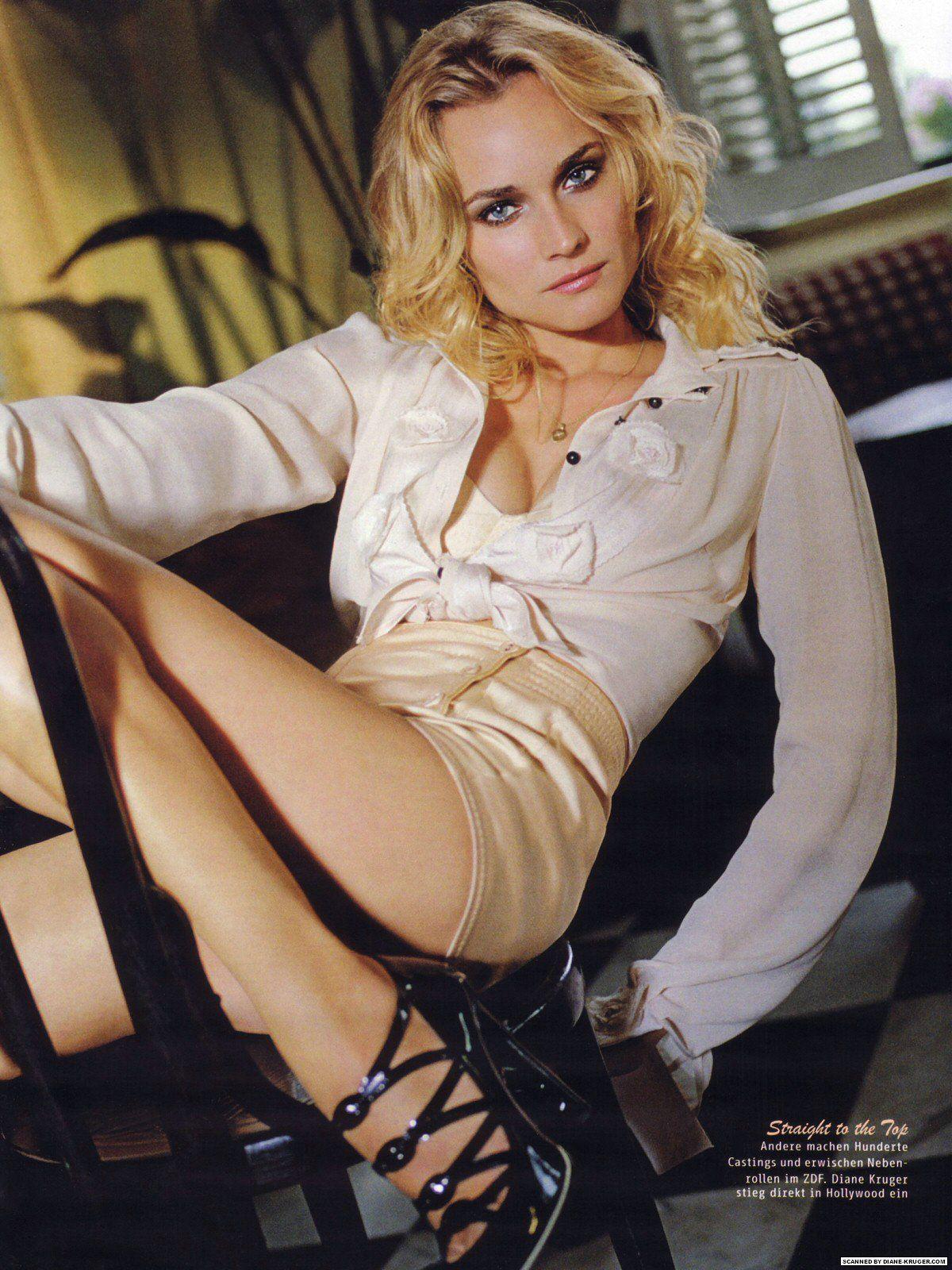 Diane Kruger desnudo en la cama