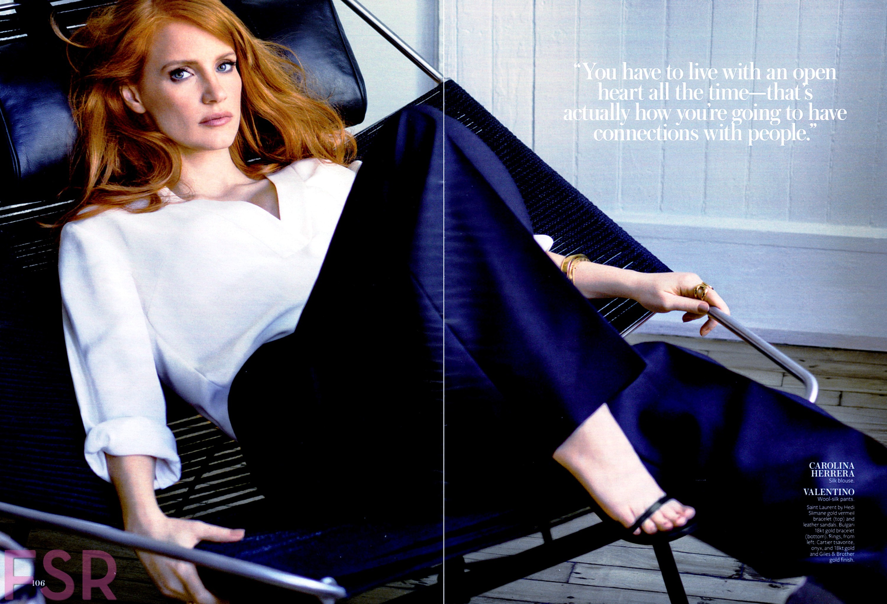 Jessica Chastain sin ropa
