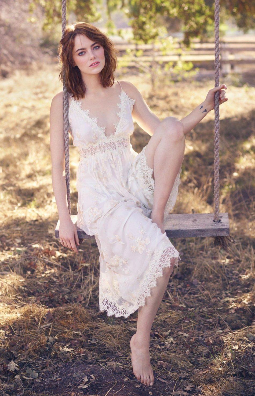 Emma Stone mostrando