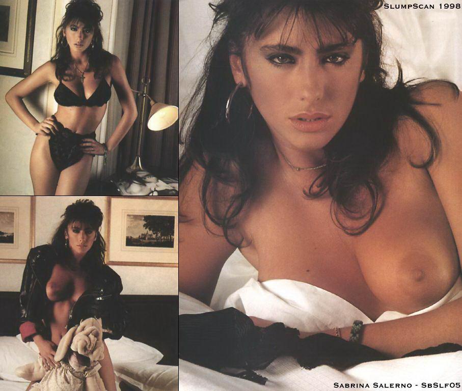 Sabrina Salerno sin ropa interior