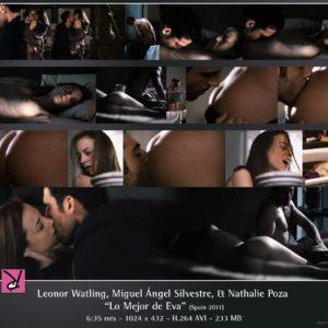 Leonor Watling desnudándose